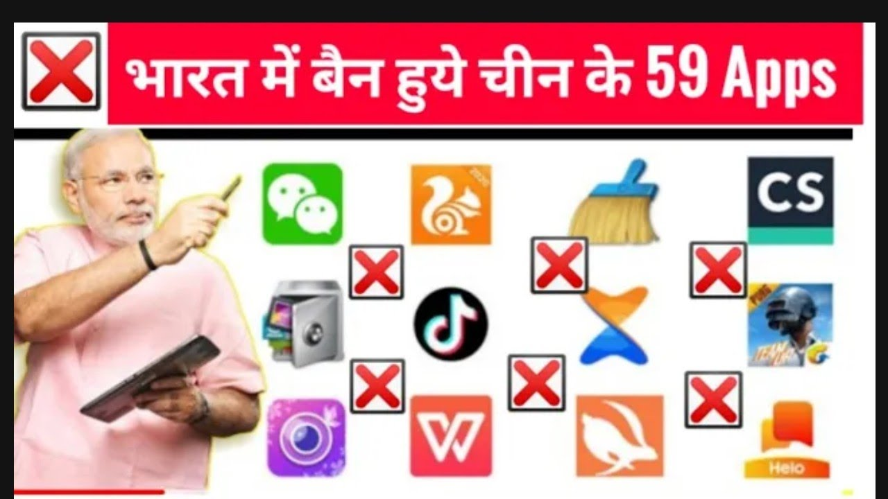 59 apps banned in india | list of 50 apps | boycott Chinese apps