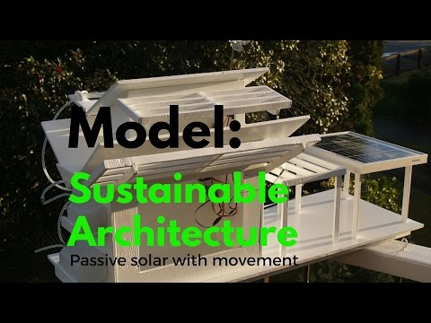 Model Sustainable Architecture: Harvesting sun energy, wind energy and rainwater.