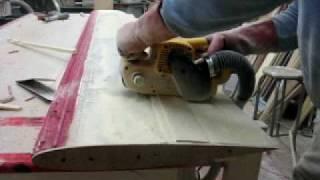 Belt Sanding Daggerboard Profile