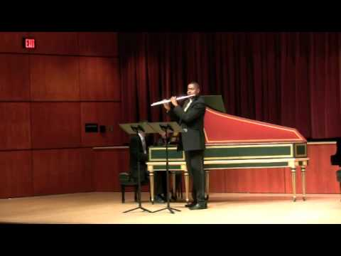 Sonata in B minor, Mvt 2 - James Miller, Flute  Robert Rocco, Piano