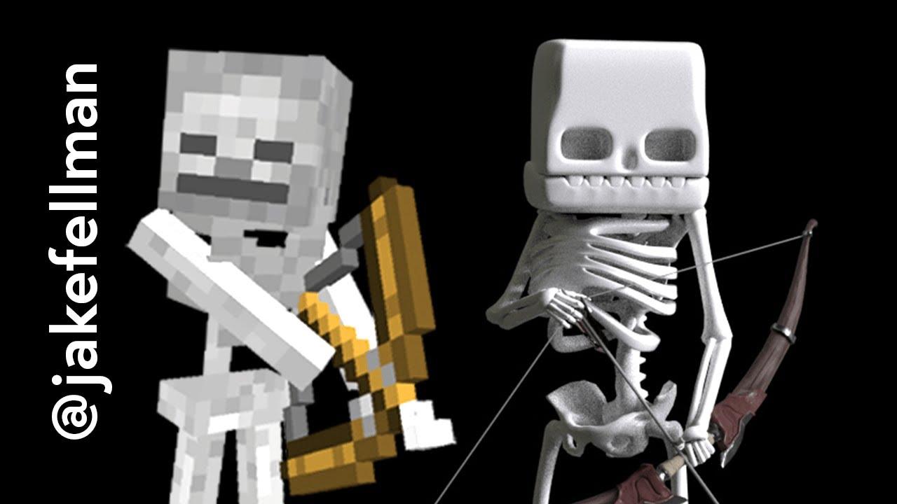 Minecraft Skeleton Model #Shorts
