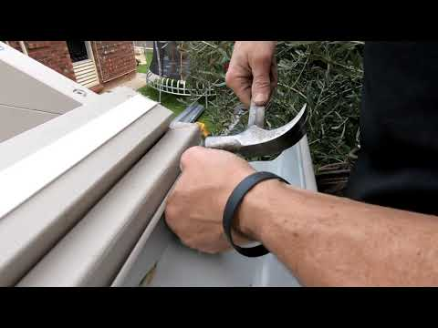 How to build a Pergola - Installing gutters and downpipe
