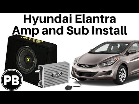 2011 2013 Hyundai Elantra 10 Quot Kicker Sub And Boss Amp