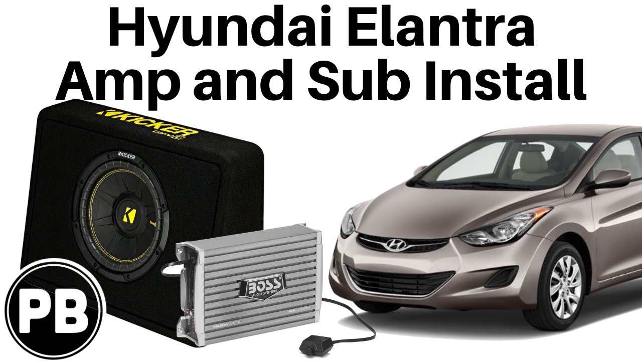 hight resolution of 2011 2013 hyundai elantra 10 kicker sub and boss amp install