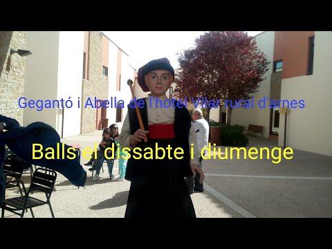 Gegantó i Abella del hotel Vilar rural d'Arnes i balls el dissabte 13/4/19 i el diumenge 14/4/19