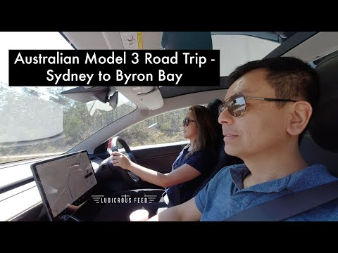 Tesla Model 3 Road Trip Sydney To Byron Bay Australia | Ludicrous Feed | Tesla Tom