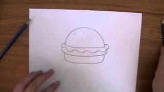 How To Draw: a Krabby Patty from Sponge Bob