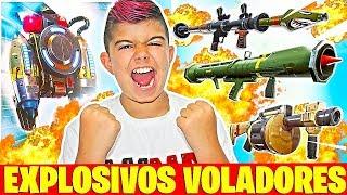 *EXPLOSIVOS VOLADORES* VICTORIA EN EL NUEVO MODO DE FORTNITE!!!! Dúo en Ps4