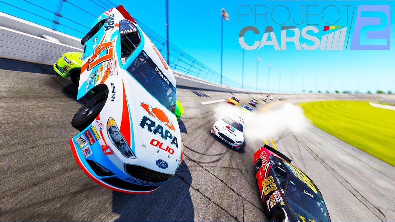 HUGE NASCAR CRASH AT DAYTONA IN VIRTUAL REALITY! - Project Cars 2 VR  Gameplay and Crashes