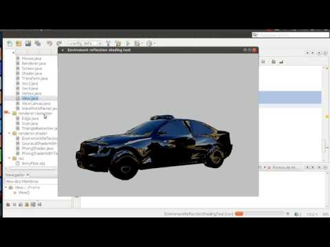 Java 3D from scratch - Enviroment reflection (mirror) shading test