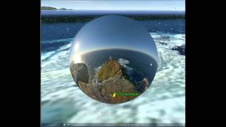 UFO on water. Google Earth НЛО над водой