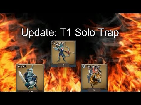 Lords Mobile! TasteyBurger Got Hit | Update To  What Is A T1 Solo Trap?