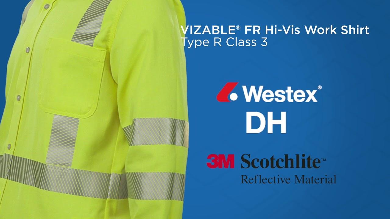 cba5decf83f VIZABLE FR Hi-Vis Work Shirt - Type R Class 3 - YouTube
