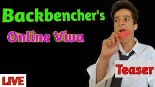 Backbenchers | online viva → TEASER | FUNNY VIDEO | KHAN VILLAGERS |