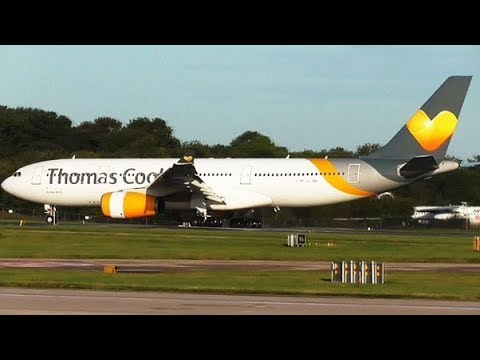 LAST EVER Thomas Cook landing at Manchester Airport | TCX2643 from Orlando | 23/09/2019