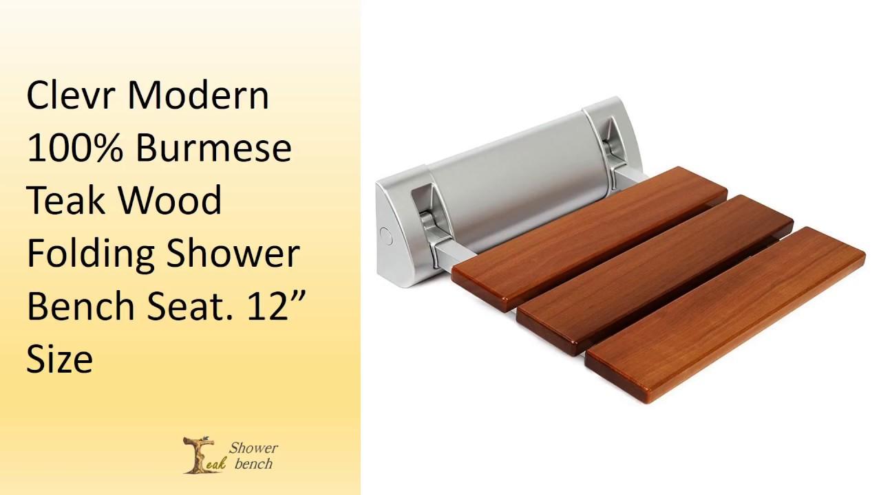 Best teak shower folding seats - YouTube