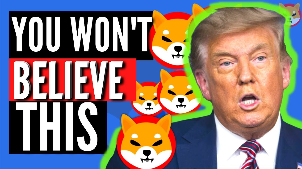 What Trump Just REVEALED About Shiba Inu Coin SHIB & Bitcoin BTC | WE SHOULD PAY ATTENTION!