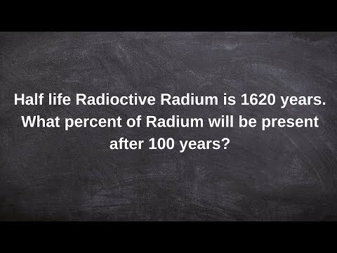 radioactive dating using half life