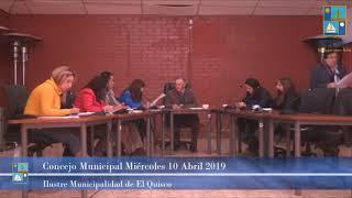 Concejo Municipal Miércoles 10 de Abril 2019 - El Quisco