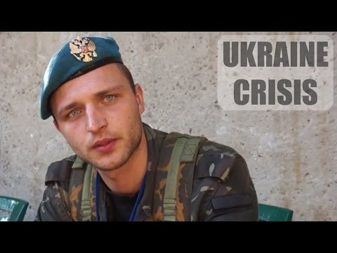 Ukraine Crisis: Interviewing a former Ukrainian soldier of the 25th Brigade - Lugansk, Novorossiya.