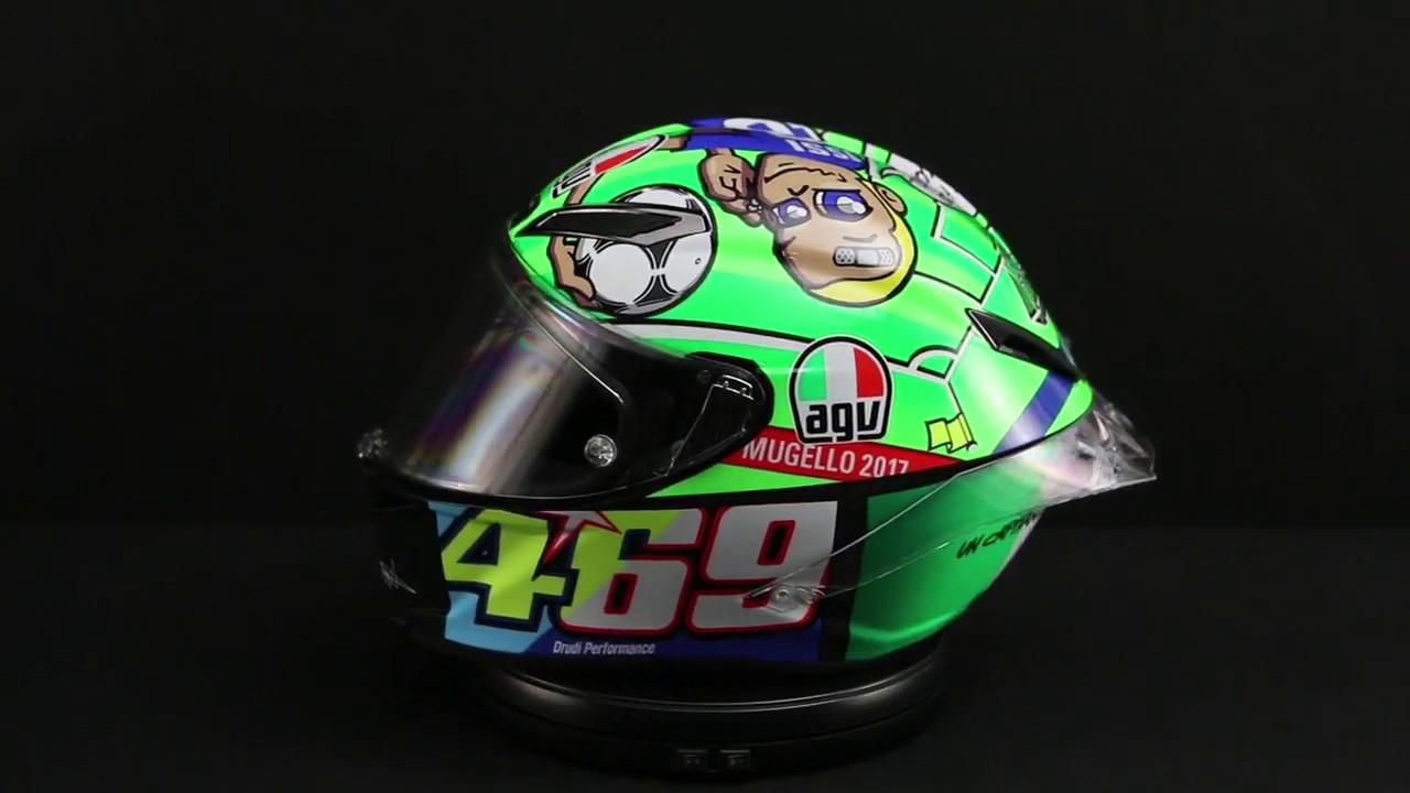 SIZE MEDIUM-SMALL AGV Pista GP R Carbon Valentino Rossi Limited Edition Mugello 2017 469 Kentucky Kid Tribute Motorcycle Helmet