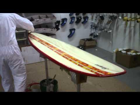 Hot Coating Deck of Surfboard