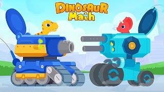 Dinosaur Math: T-Rex Vs Triceratops Vs Velociraptor Vs Ankylosaurus | Eftsei Gaming