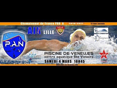 Replay de la rencontre de waterpolo entre le Pays d'Aix Natation et Lille