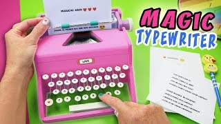 MAGIC TYPEWRITER MACHINE - WRITER WITH MAGIC - DIY GIFT ❤️ | aPasos Crafts DIY