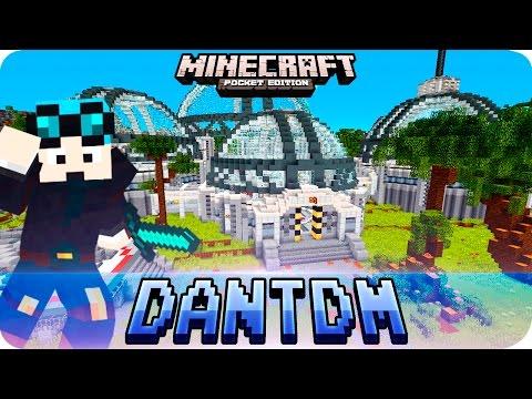 Minecraft PE Maps - DanTDM's New Lab Recreated in MCPE! (TheDiamondMinecart Minecraft Lab Tour)