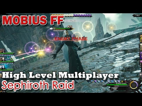 Mobius FF: Sephiroth Raid Boss. High Level Multiplayer