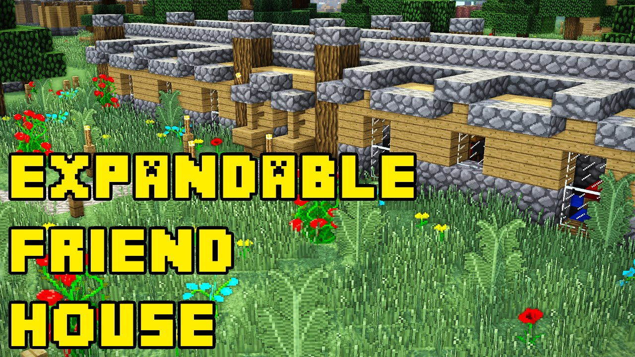 Minecraft Expandable Multiplayer Friend House Base
