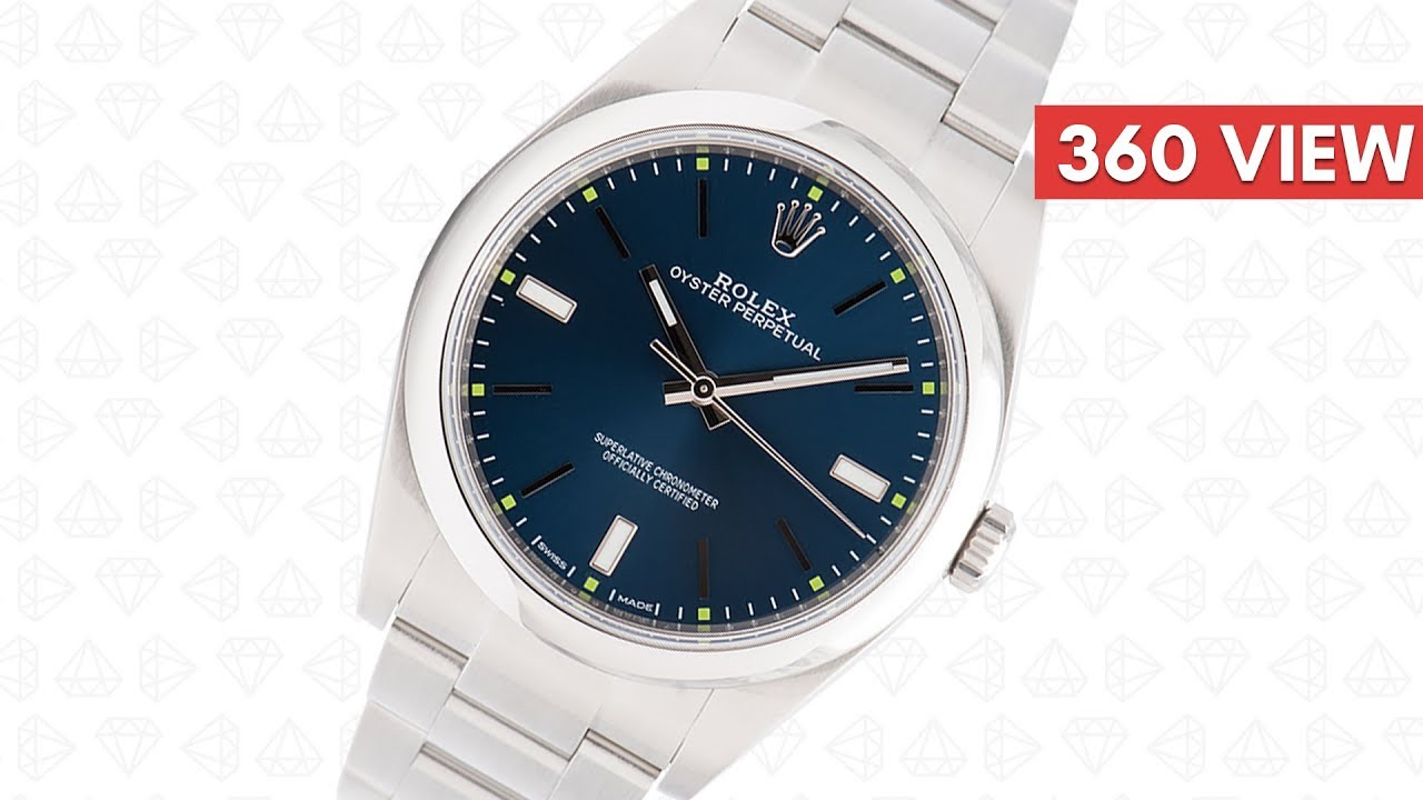 Rolex Oyster Perpetual 39mm Blue Dial
