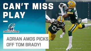 Adrian Amos Picks Brady's Deep Ball!