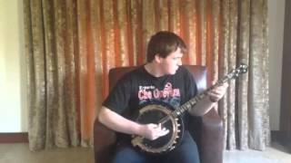 Theodore  O Connor playing Emerald BLAK banjo