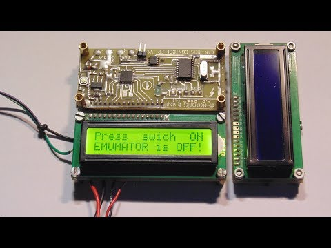 CAN-BUS Controller / Emulator With LCD  -To Test Various CAN-BUS Equipment