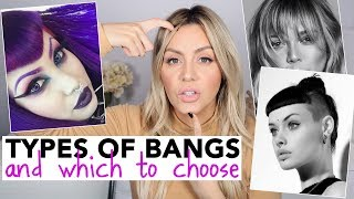 All Types of Bangs - and Which to Choose!