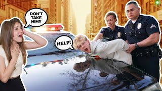 Getting ARRESTED In Front Of My CRUSH To See Her Reaction PRANK!! **SHE CRIED** |Lev Cameron