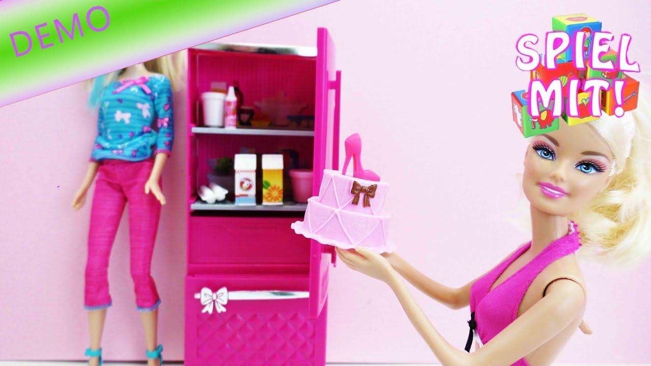 Barbie Kühlschrank - inklusive Barbies Orangensaft, Sahne, Torte ...