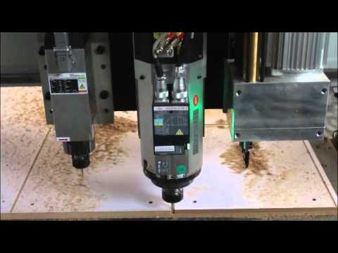 Qingdao HITECH Multi Function 3 Axis Woodworking CNC Router, Cupboard CNC Carving Machine