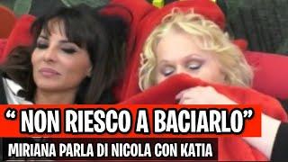 """CONFESSIONE SHOCK di Miriana Trevisan su Nicola Pisu """" NON RIESCO A BACIARLO  """" gfvip"""