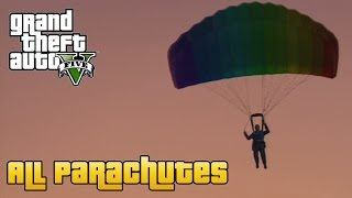 GTA V - All Parachutes (Including Flight School Update)