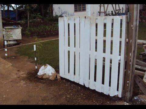 membuat gerbang dan pagar kayu youtube