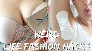 One of BeautyyBird's most viewed videos: 17 WEIRD FASHION LIFE HACKS EVERY GIRL SHOULD KNOW! | BeautyyBird
