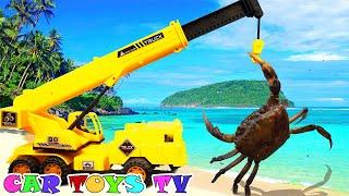 포크레인 덤프트럭 구출놀이 중장비 자동차 장난감 모래놀…