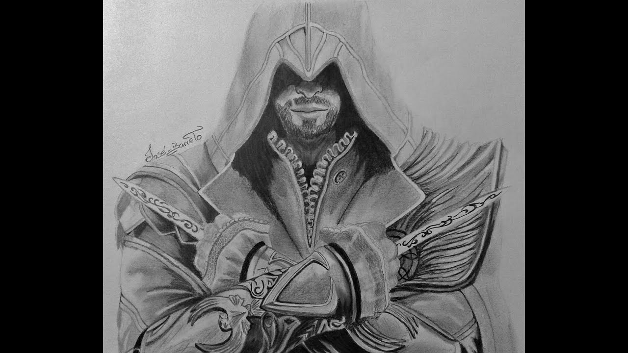 Drawing Ezio From Assassins Creed Ll