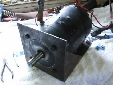 24v Dc Series Wound 6 5hp 8 6kw Brushed Motor Youtube