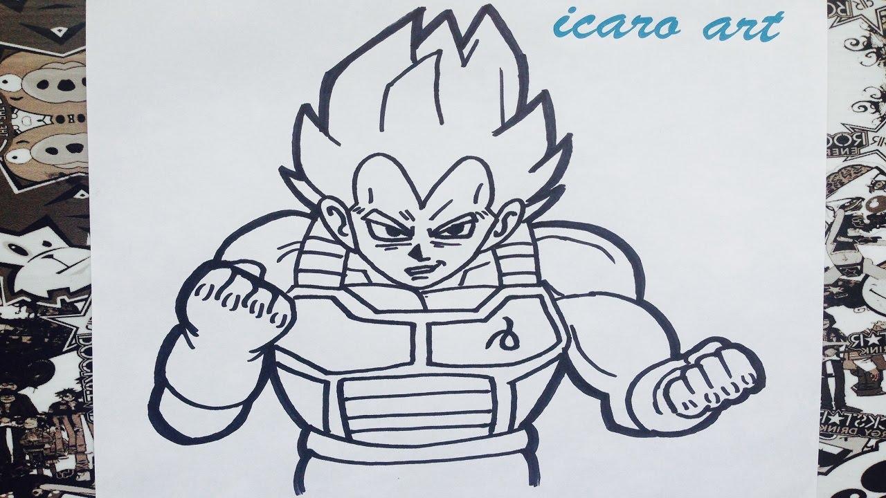 Como dibujar a vegeta ssj dios  how to draw vegeta  YouTube