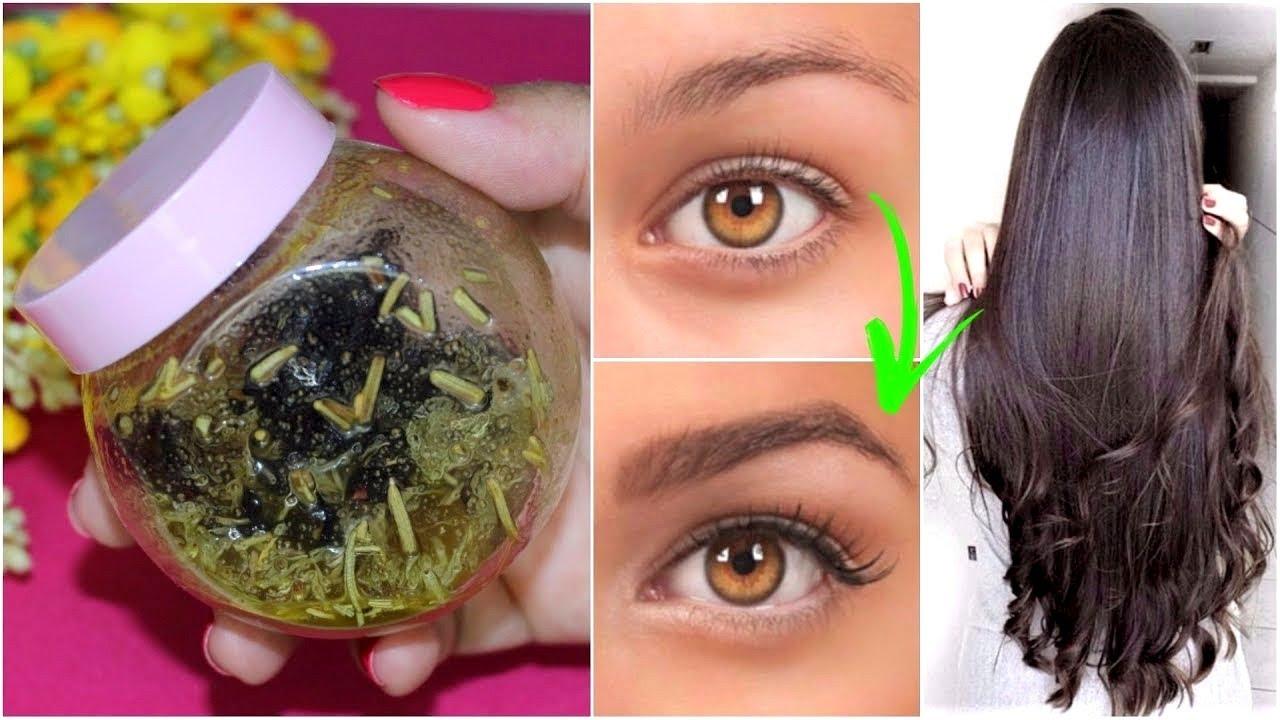 MEZCLA BOMBA💥👁 para el crecimiento de tu cabello y la densidad de tus  cejas en solo 7 días!