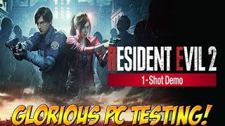 Resident Evil 2 Remake! 1 Shot Demo Testing PC Settings! - YoVideogames